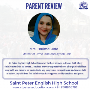 Mrs. Halima Ulde' Review on St Peter English High School