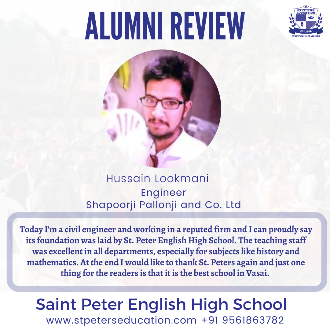 St Peter English High School Review by Hussain Lookmani