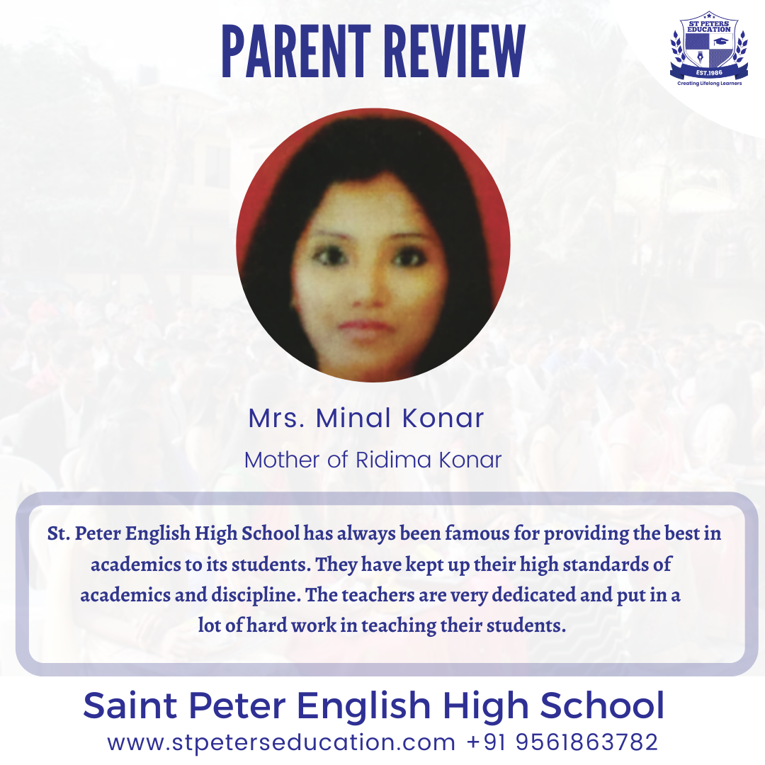 St Peter English High School Review by Mrs. Minal Konar