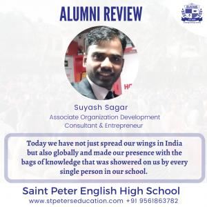 St Peter English High School Review by Alumni Suyash Sagar